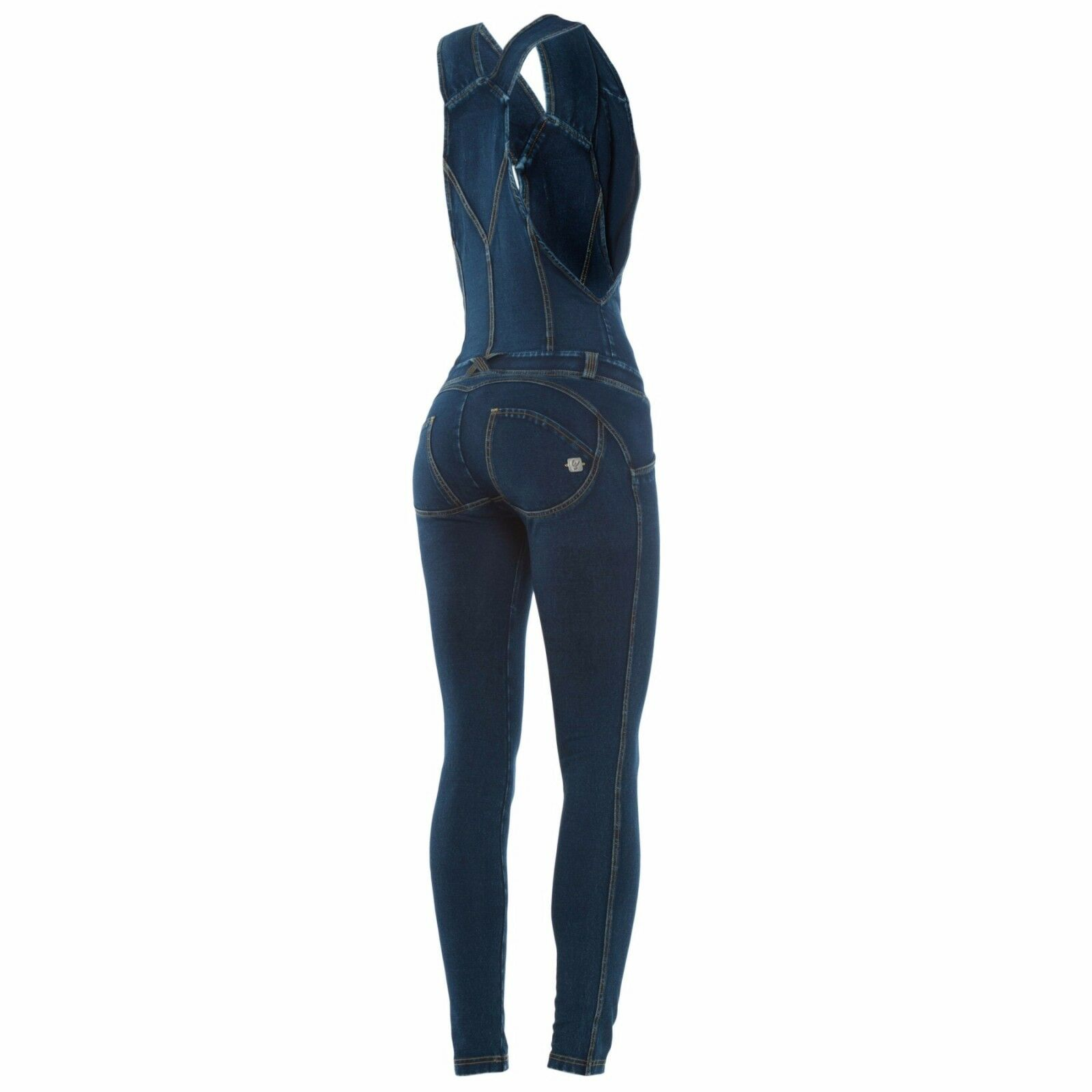 SCONTO 10% FREDDY WR.UP WRUP16J01E SALOPETTE XS S M XL  DENIM TUTA JEANS PUSH UP