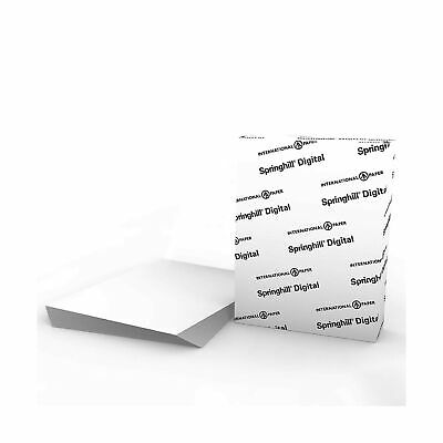 "Springhill White 8.5"" x 11"" Cardstock Paper 67lb Vellum Bristol 147gsm 250 Sheet"