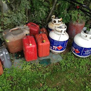 Gas cans and propane tank's