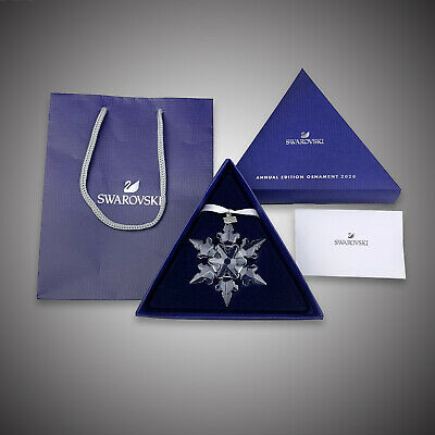 2020 Swarovski Crystal ANNUAL EDITION LARGE CHRISTMAS ORNAMENT 5511041 Authentic