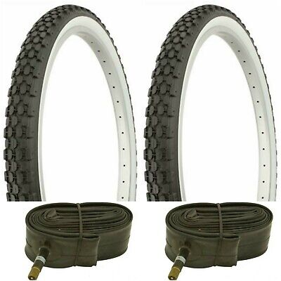 """New PAIR of 20/"""" BMX Bicycle Snake Belly Skin Wall Tires /& Tubes//Strips 20X1.75"""
