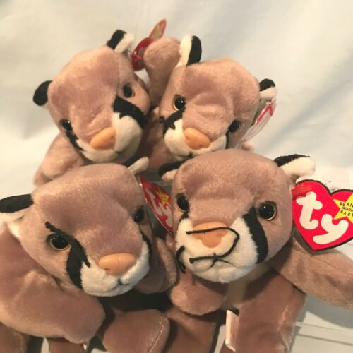 Canyon Cougar Lot of 4 Ty Beanie Babies #4212 1998 PE Retired  $21.99