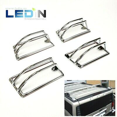 Chrome Roof Cab Marker Light Trim Cover For 2003-2009 HUMMER H2 SUV SUT 4PCS
