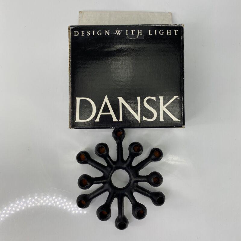 Dansk Black Cast Iron Spider Small Candle Holder Jens Quistgaard Design w/ Light