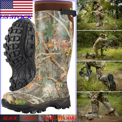 HISEA Men's Hunting Boots Waterproof & Insulated Neoprene Ru