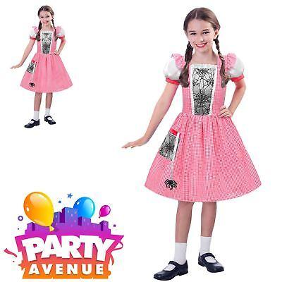 Girls Little Miss Muffet Costume Kids World Book Week Day Spider Web Fancy - Little Miss Muffet Costume Kids