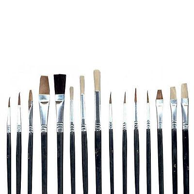 Pinsel Künstlerpinsel Malpinsel-Set Malen 15 tlg Pinselset