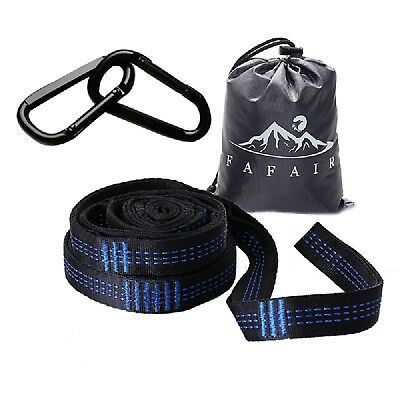 Adjustable Tree Hanging Hammock Straps Extension Rope with 2 Hooks for Camping ()