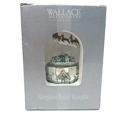 Wallace Waterglobe Santa And His Sleigh We Wish You a Merry Christmas Animated