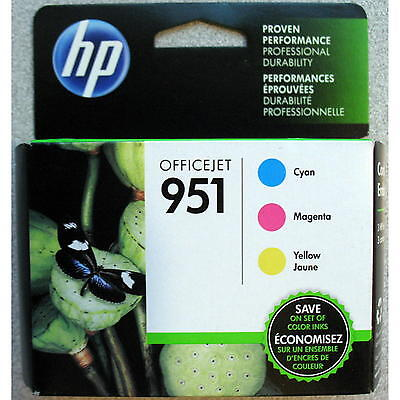 3-PACK HP GENUINE 951 Color Ink (RETAIL BOX) for OFFICEJET PRO 8600 8610 8615