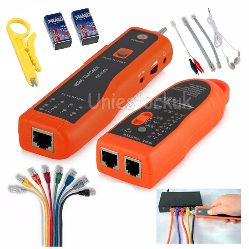 RJ45/11 Telephone Phone Wire Line Tracker Toner Tracer Tester LAN Network Cable