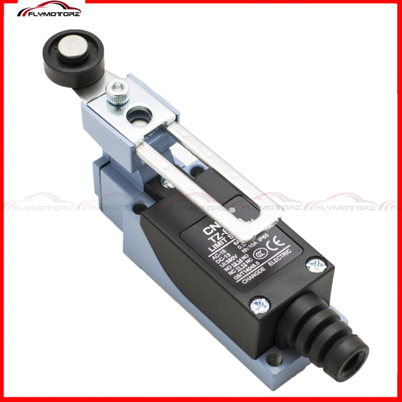 1 Pcs AC 250V 6A Rotary Adjustable Roller Lever Enclosed Momentary Limit Switch