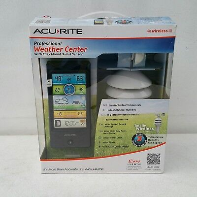 WIRELESS - ACURITE PROFESSIONAL WEATHER CENTER EASY MOUNT 3 IN 1 SENSOR -