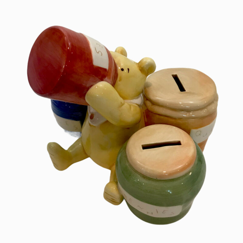 Disney Winnie The Pooh Coin Bank - Classic Pooh Disney Collection Honey Jars