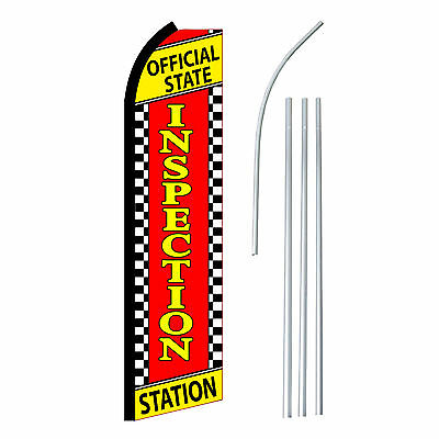Inspection Station - Advertising Sign Swooper Feather Banner Flag Pole Only