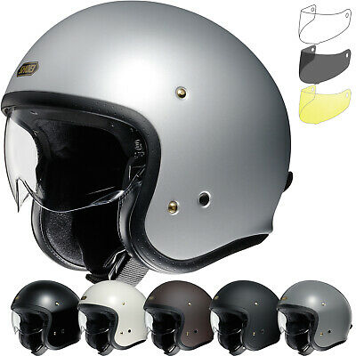 Shoei J.O Open Face Motorcycle Helmet & Visor Lightweight Motorbike Scooter ECE