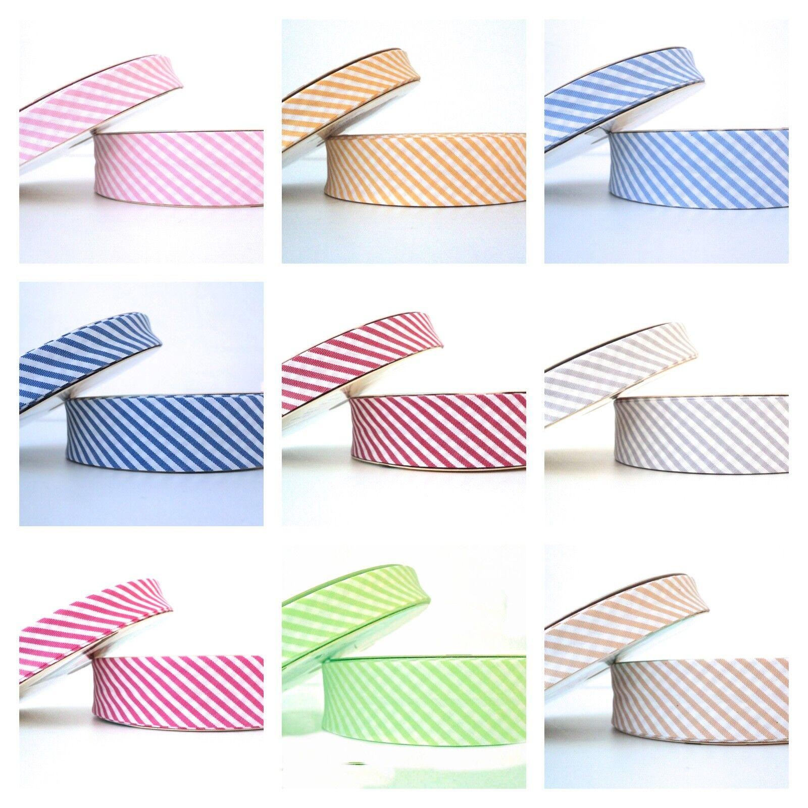 extra wide Stripe Bias Binding Cotton Fabric Folded Trim Higgs /& Higgs Red 30mm