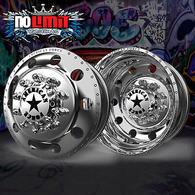 Classic Wheels Rims - New American Force Classic  22X8.25 Dually Truck Wheels Rims Ford Ram  F350