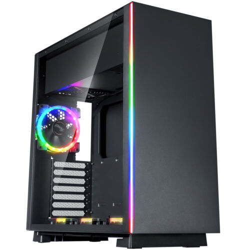 Rosewill ATX Mid Tower Gaming PC Computer Case Dual Ring RGB