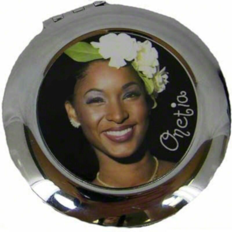 Personalized Custom Metal Round Shaped Compact Mirror Any Image Can B Applied