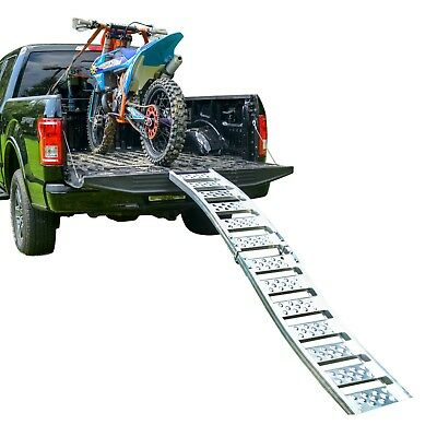 """Tru-Grip"" Dual Curved Aluminum Folding Motorcycle Ramp"