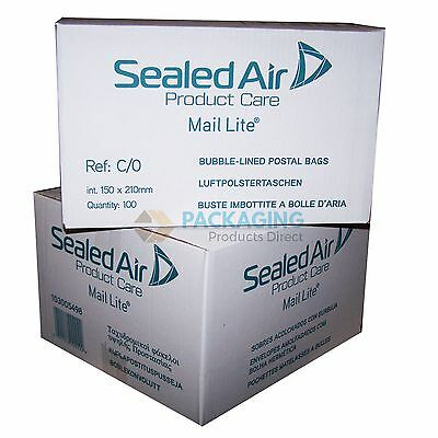 2000 Mail Lite White Mailing Padded Postal Bags C/0 150MM X 210MM Envelopes