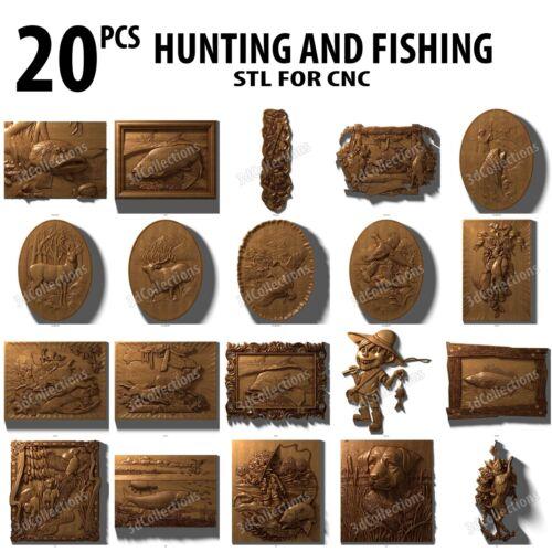 3d stl model cnc router artcam aspire 20 panno hunt fish