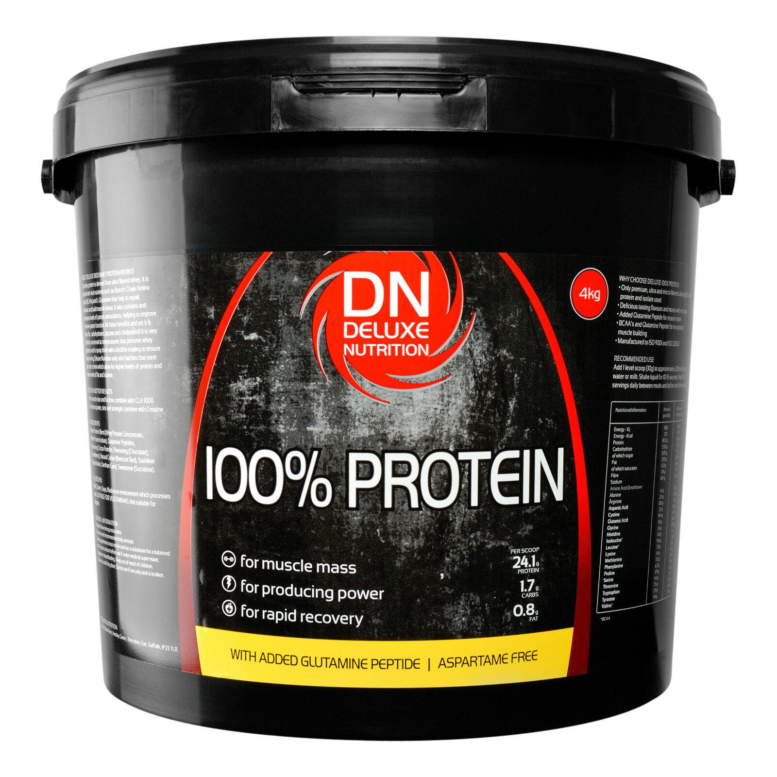 DELUXE Nutrition 100% PROTEINA SIERO DI LATTE ISOLARE 1Kg, 4kg