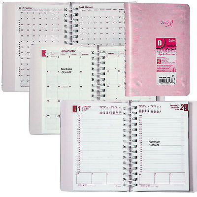 2017 Brownline CB634W.PNK Pink Daily Planner Appointment Book, 8x5""