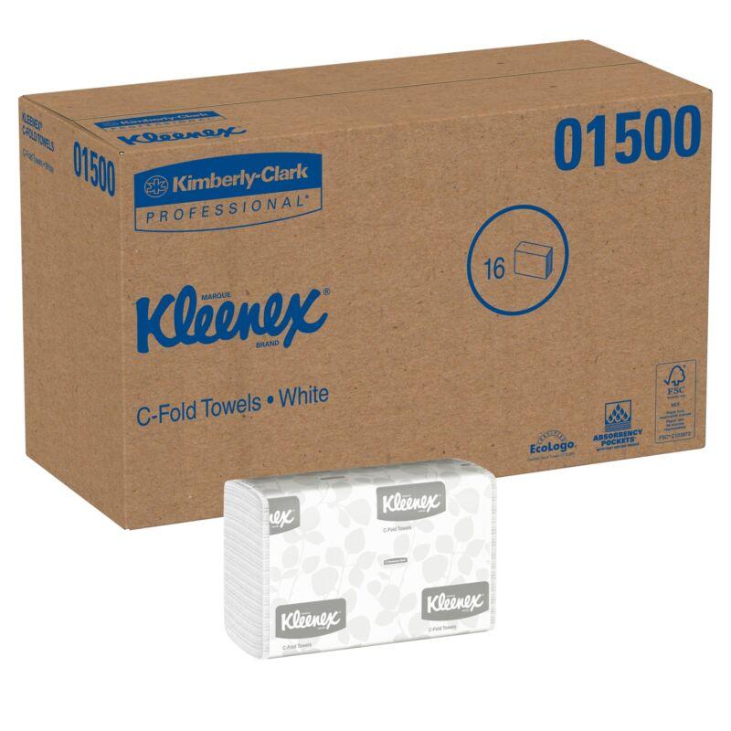 "Kleenex C-Fold Paper Towel 01500 10.1""x13.2"" 16 Pack(s) 150 Towels/ Pack"