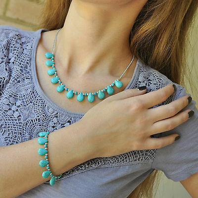 Turquoise Set,  Bracelet and Necklace
