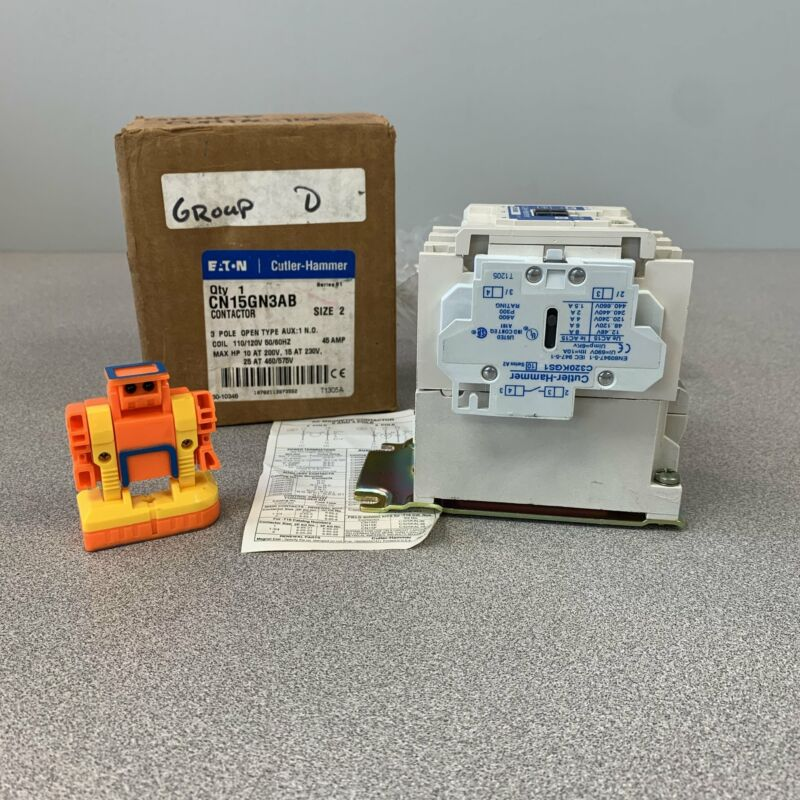 Eaton Cutler-Hammer CN15GN3AB Series B1 Contactor, Size 2