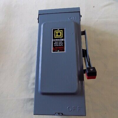 Square D H321nrb Safety Switch Rainproof Type 3r Enclosure Volts 240 Vac Amps 30