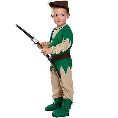 Toddler Robin Hood Fancy Dressing Up Costume Outfit Baby Classic Book 3 Years  - Robin Hood Toddler Costume