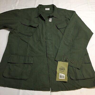 NEW Rothco Vietnam War Reproduction OD Green Ripstop Jungle Shirt Jacket Mens XL