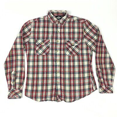 - Salt Valley Western Button Up Flannel Multi Plaid Shirt Mens XS (Tag Size Small)