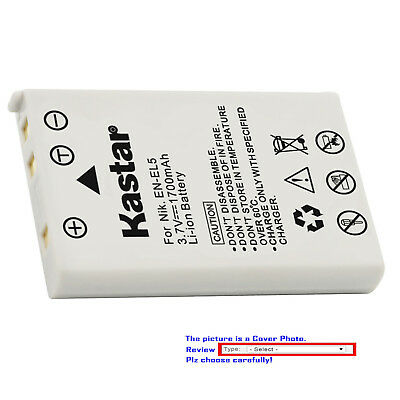 Kastar Replacement Battery for Nikon Genuine EN-EL5 & Nikon Original OEM MH-61 (En El5 Replacement Battery)