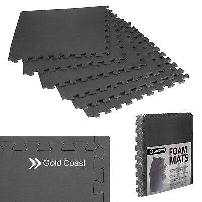 Gold Coast 6 Floor Gym Mat Interlocking Exercise Floor Tiles 24 sq ft EVA Foam