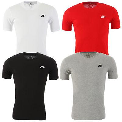 Nike Herren T-Shirt Swoosh Core Basic Shirt Freizeit Tee 100% Baumwolle S-XXL  (100 Baumwolle T-shirt)