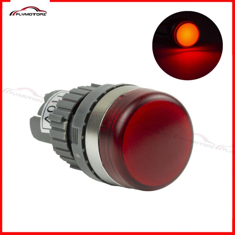 22mm Red LED 110V 120V Pilot Panel Indicator Light Lamp For Control Panel Box