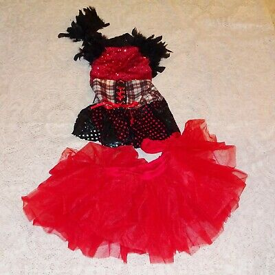 Dance Costume - Girls Medium Child - NEW- Jazz Tap Costumes - Steam Punk Red