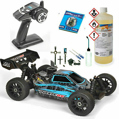 T2M T4794BU Pirate 8,6 4WD RC Verbrenner Buggy RTR 3,5 ccm³ + Nitro Set Combo