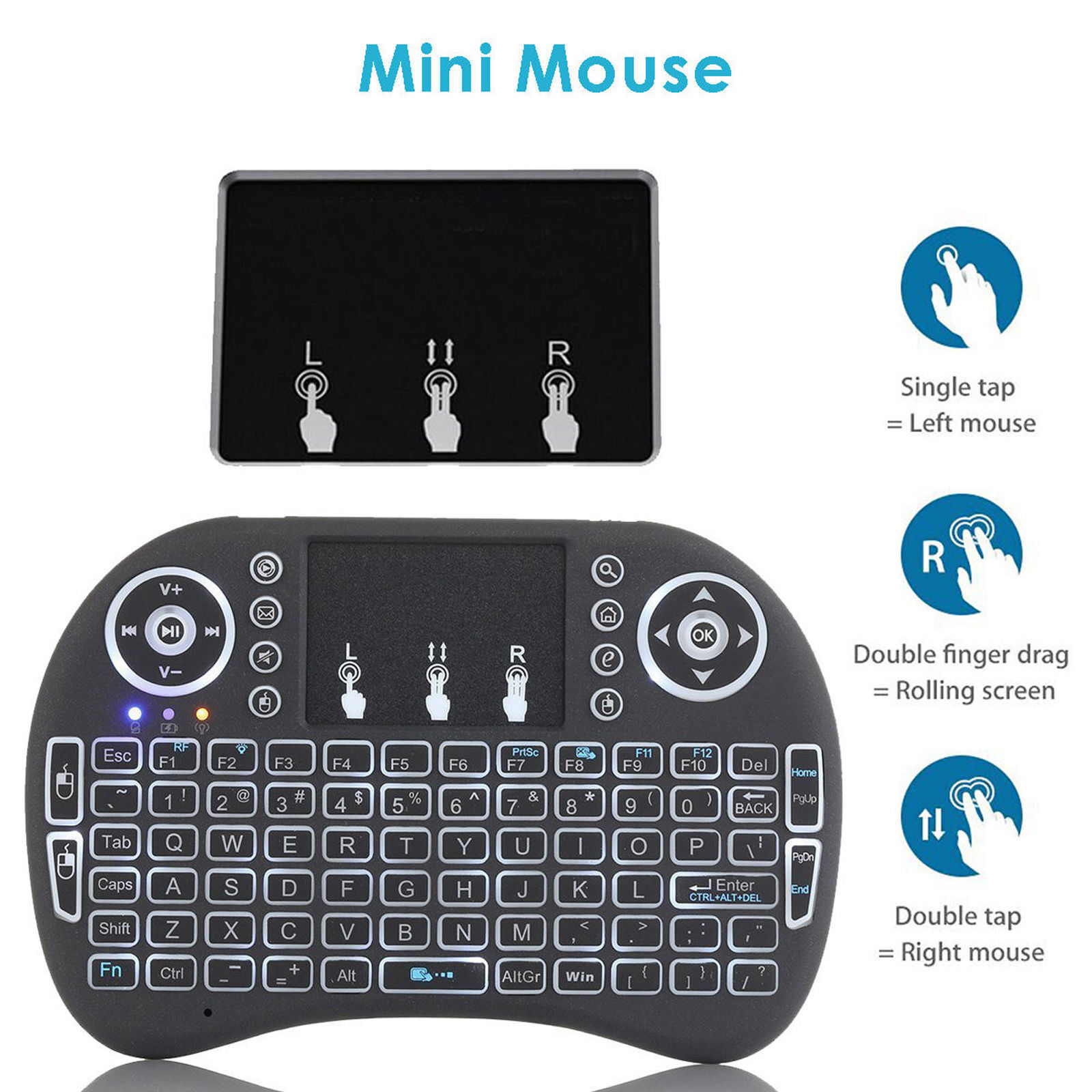 2 4g Wireless Remote Keyboard Mouse For Samsung Lg Smart