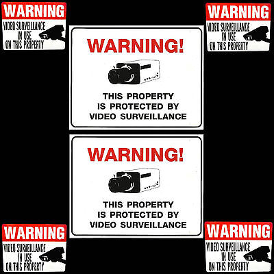 Home Security System Video Cameras Alarm In Use Warning Yard Signsstickers Lot