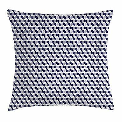 Navy Blue Throw Pillow Cases Cushion Covers by Ambesonne Hom