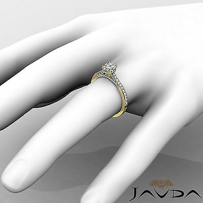Circa Halo Pave Setting Round Diamond Engagement Ring GIA Certified F SI1 1.15Ct 2
