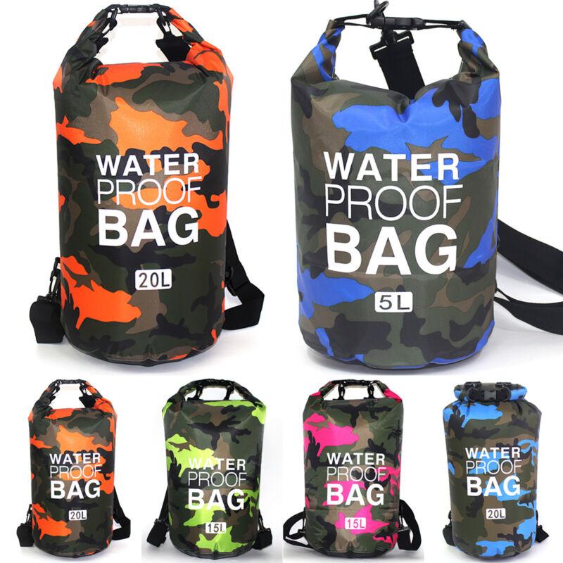 2/5/10/15L Waterproof Dry Bag Storage Sack Pouch Camping Kayak Boating Swimming