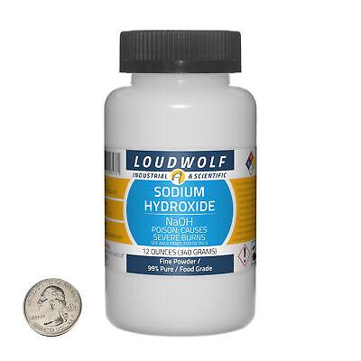 Sodium Hydroxide 12 Ounce Bottle 99 Pure Food Grade Fine Powder Usa