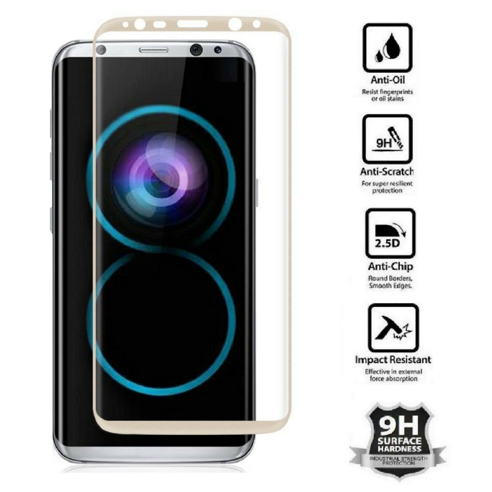Купить MagicGuardz® Platinum Series For Samsung Galaxy S8,S8+, S9, S9+, Note 8, Note 9 - Samsung Galaxy S9 S8 Plus Note 8 9 4D Full Cover Tempered Glass Screen Protector