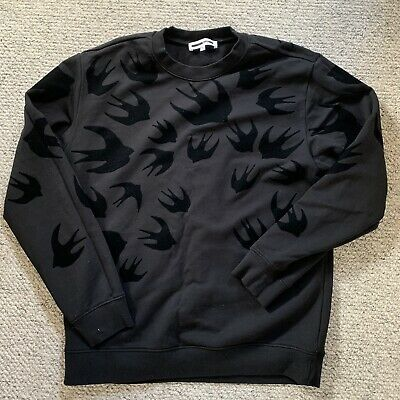 McQ Alexander McQueen Swallow Flocked Sweatshirt XL